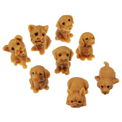 297-055 Фигурка в виде собачки, силиконовая, TPR, 5,5х4х4см, 8-12 дизайнов