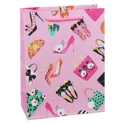 507-982 Пакет подарочный, высококачественная бумага, 18х24х8,5 см, 12 дизайнов, арт.1