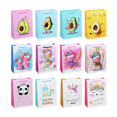 507-987 Пакет подарочный, высококачественная бумага, 18х24х8,5 см, 12 дизайнов, арт.2