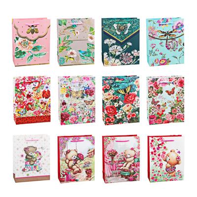 507-998 Пакет подарочный, высококачественная бумага с глиттером, 18х23х8 см, 4 цвета, арт 3-9