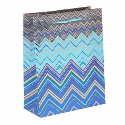 505-014 Пакет подарочный, высококачественная бумага с глиттером, 18х23х8 см, 16 дизайнов, арт 3-14