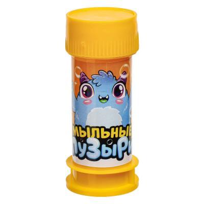 """460-012 Мыльные пузыри """"Мультфильмы"""", 35мл, мыльный раствор, пластик, 2-4 дизайна"""