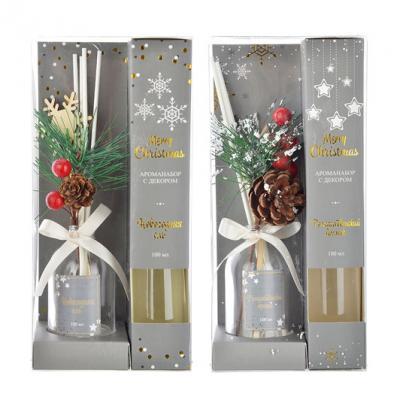 412-034 LADECOR Ароманабор с декором Merry Christmas, 100мл, 2 аромата