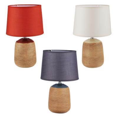Лампа настольная, 30см, E27, 60Вт, керамика, текстиль, 3 цвета-1