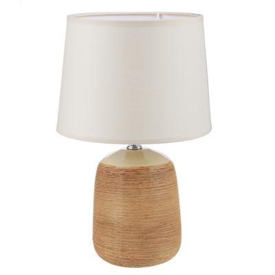 Лампа настольная, 30см, E27, 60Вт, керамика, текстиль, 3 цвета