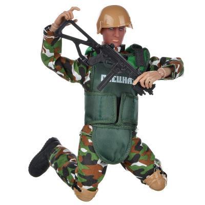 296-057 ИГРОЛЕНД Фигурка солдата шарнирная, 30см, с аксессуарами, пластик, 35х21,7х6см, 2 дизайна