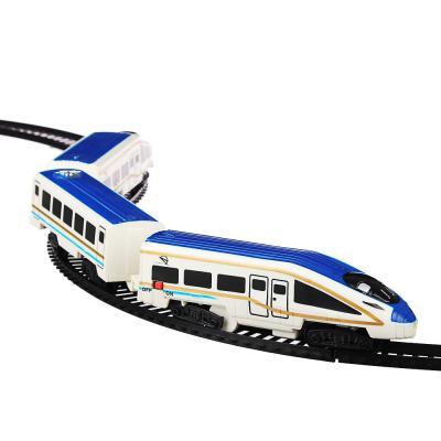 276-082 ИГРОЛЕНД Поезд с железнодорожными путями, свет, звук, движ., пластик, 2АА, 55,5-56,5х20-27х4,5-5см