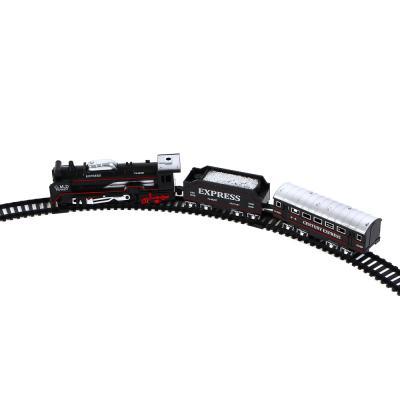 """276-083 ИГРОЛЕНД Поезд с ж/д путями """"Ретро"""", функция движения ,свет , 2АА, PP, HIPS, 35,7х24х4,3см"""