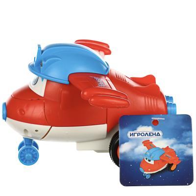 292-175 ИГРОЛЕНД Самолет инерционный, трансформация при столкновении, ABS, 11х5х6см, 3 дизайна