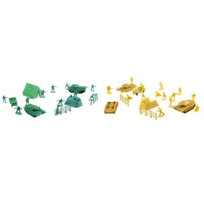 296-061 ИГРОЛЕНД Набор солдатиков 100шт., пластик, 26х33х5см, 2 дизайна