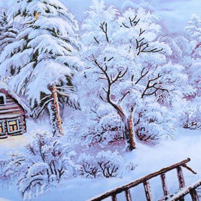 820-035 Зимняя ночь Блюдо квадратное, 20см, стекло