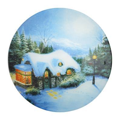 820-041 Рождественская сказка Салатник круглый, 23см, стекло