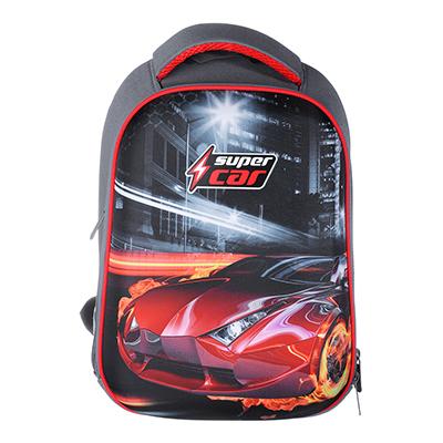 254-215 Рюкзак школьный Суперкар 38x30x20см, 2 отделения, 2 кармана, эргономичная спинка