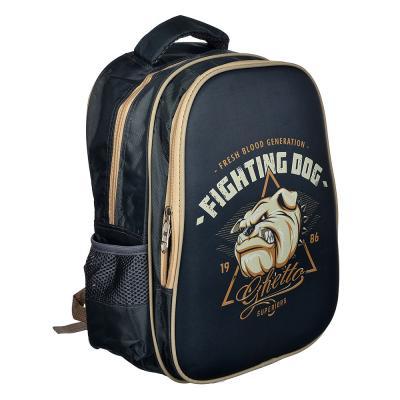 254-219 Рюкзак подростковый Файтинг Дог 38x31x16см, 2 отделения, 2 кармана, полиэстер