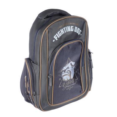 254-221 Рюкзак подростковый Файтинг Дог 38x30x14см, 1 отделение, 3 кармана, полиэстер