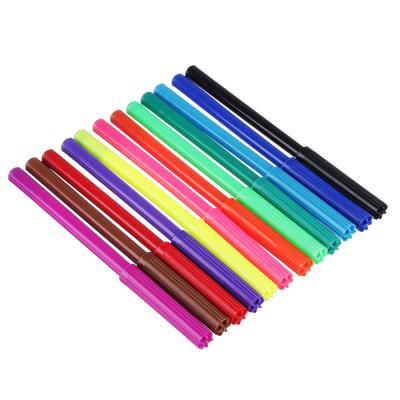 256-203 МЯУ! Фломастеры, 12 цветов, с цвет. вентилир. колпачком, пластик, в карт.коробке с подвесом