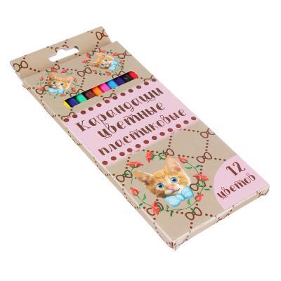 228-117 Гламур Кэтс Карандаши, 12 цветов, шестигранные заточенные, пластик, в карт.коробке с подвесом