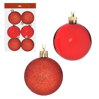 373-228 Елочные шары набор 6 шт СНОУ БУМ, 6 см, пластик, 4 цвета в ассортименте