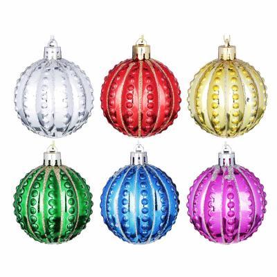 373-232 Елочные шары набор СНОУ БУМ 6шт, 6см, пластик, ассортимент цветов, 2 дизайна, коробка ПВХ