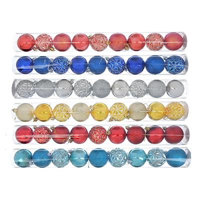373-236 Елочные шары набор СНОУ БУМ 9 шт, 6 см, 6 дизайнов, туба ПВХ