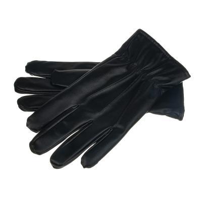 363-182 Перчатки мужские, размер универсальныйй, ПУ, цвет черный