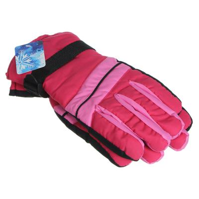 363-183 Перчатки молодежные горнолыжные, размер универсальный,100% полиэстер, 4 цвета