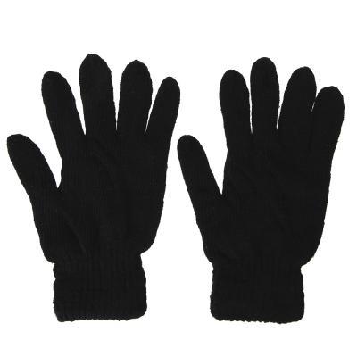 363-189 Перчатки мужские, размер универсальный, 100% акрил, цвет черный