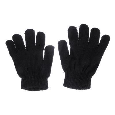 363-191 Перчатки молодежные, размер универсальный, 100% акрил, цвет черный