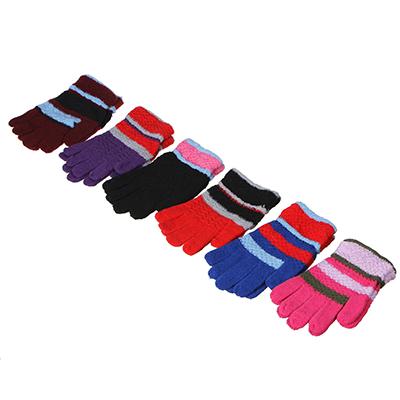 363-196 Перчатки молодежные, размер универсальный, 100% полиэстер, 4-6 цветов