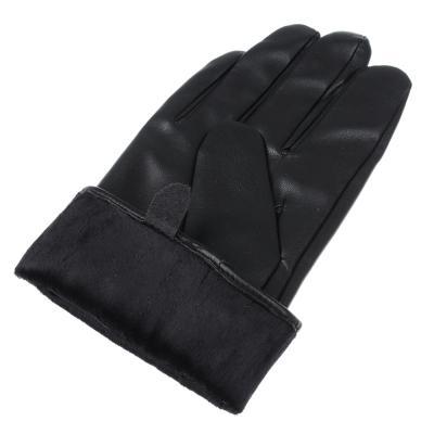 363-204 Перчатки мужские, размеры M/L, ПУ, 3 дизайна