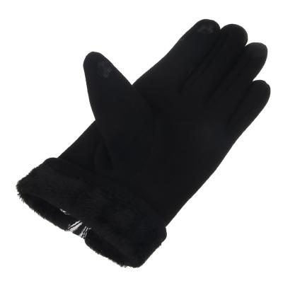 363-212 Перчатки женские контактные, размер универсальный, 30% хлопок, 70% полиэстер, 3 дизайна