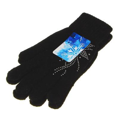 363-237 Перчатки женские с декором, 20% шерсть, 80% акрил, размер универсальный, 4 цвета