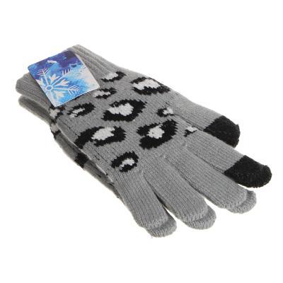 363-244 Перчатки молодежные контактные утепленные,  размер универсальный, 100% акрил, 4 цвета