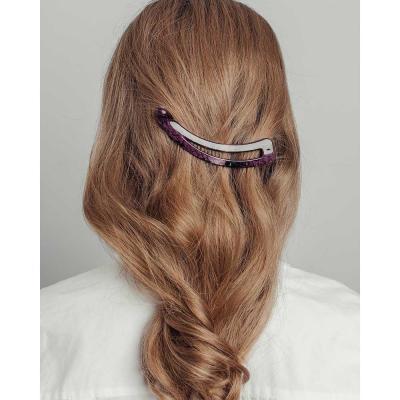321-286 Заколка-банан для волос, 12см, пластик, 3 дизайна