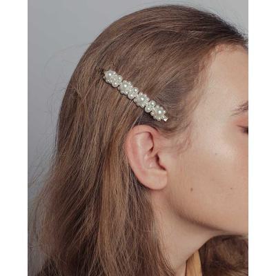 321-288 Зажим для волос, 8,5см, пластик, сплав