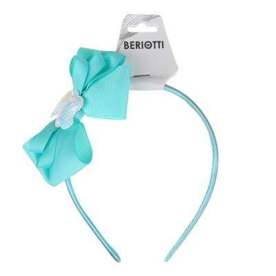316-331 Ободок детский с декором, полиэстер, пластик, ширина 1см, 3 цвета, ОД19-1