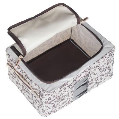 457-431 VETTA Короб жесткий для хранения вещей на молнии, 11л, полиэстер, металл, 30х23х16см, 2 дизайна
