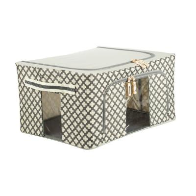 457-432 VETTA Короб жесткий для хранения вещей на молнии, 22л, полиэстер, металл, 39х29х20см