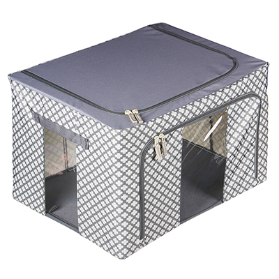 457-434 VETTA Короб жесткий для хранения вещей на молнии, 66л, полиэстер, металл, 50х40х33см, 2 дизайна