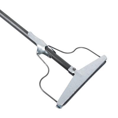 444-362 Швабра-тряпкодержатель металлический в сборе с металлической ручкой, сталь,1220х190х20 см,арт.ТР0359