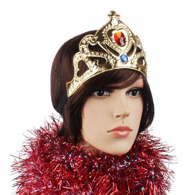 341-197 СНОУ БУМ Корона карнавальная, полиэстер, пластик, 22х10 см, 2 цвета, арт.1