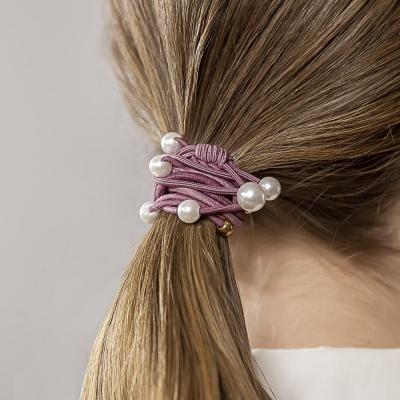 322-215 BERIOTTI Набор резинок для волос 4шт, d=5см, полиэстер, пластик, 4-6 цветов
