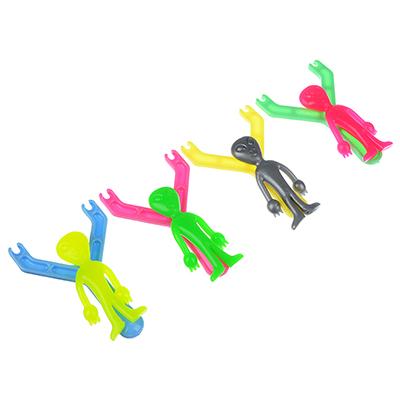 """274-135 Лизун с рогаткой """"Летающий пришелец"""", пластик, ТПР, 9-12см, 2-4 цвета"""
