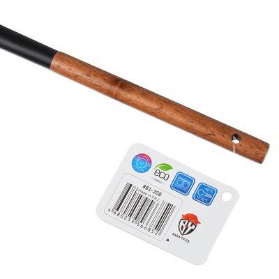 881-208 Лопатка с прорезями VETTA Виста, нейлон, ручка нерж.сталь, дерево