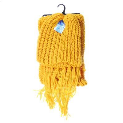 314-506 Набор 2 предмета: шапка, шарф 150х17см, 100% акрил, 4 цвета