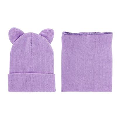 314-511 Набор детский 2 предмета: шапка, манишка, 100% акрил, 3-6 цветов
