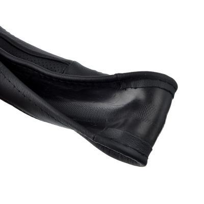 708-112 NEW GALAXY Оплетка руля, натуральная кожа + перфорированные вставки, цвет черный, размер M