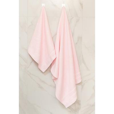 "484-907 Полотенце махровое PROVANCE ""Виана"" 70х130см, 100% хлопок, нежно-розовый"