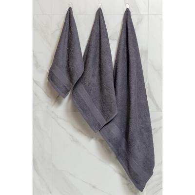 489-180 Полотенце махровое PROVANCE Наоми 50х90см, 100% хлопок, темно-серый