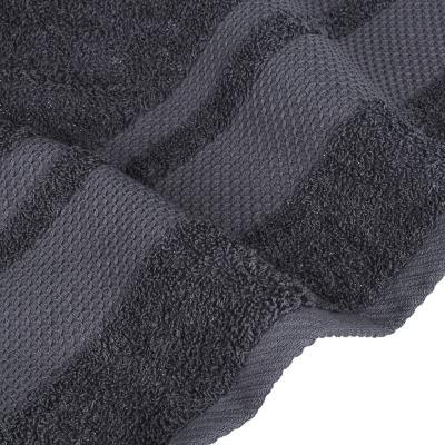 "484-913 Полотенце махровое PROVANCE ""Грейс"" 70х130см, 100% хлопок, темно-серый"